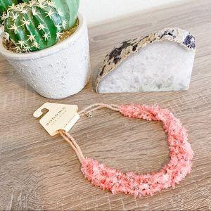 Sonoma Semi-Precious Rose Stone Necklace